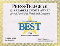 2018 Press-Telegram Award Certificate
